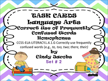 Task Cards Correct Use of Frequently Misused Words; Homoph