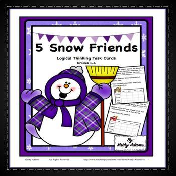 Winter Snowman Logic Puzzles