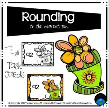 Task Cards Curvy Flowerpot Rounding