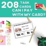 Task Cards: Debit and Gift Card Purchases: Special Education