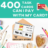 Task Cards: Debit and Gift Card Purchases: Special Education: Grocery Store