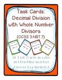 Task Cards: Decimal Division [Whole Number Divisors] 5.NBT.7