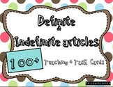 ★English Definite, Indefinite Articles- OVER 100 Task and Teaching Cards!