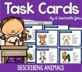 Task Cards- Describing Animals- Free