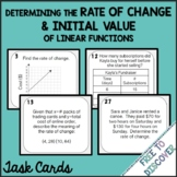 Rate of Change and Initial Value Task Cards Activity