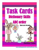Dictionary Skills:  ABC Order Task Cards