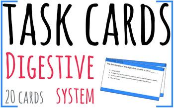 Task Cards - Digestive System