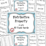 Distributive Property With Negatives 80 Task Cards