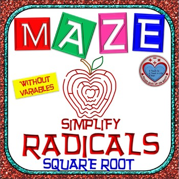 Maze - Radicals - Simplifying square root (no variables)