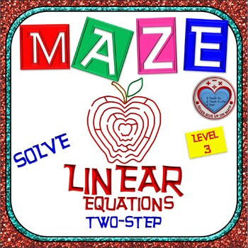 Maze - Equations - Solving Two Step Equation - Linear Model (Level 2)