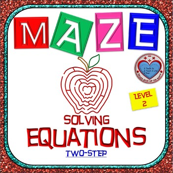 Maze - Equations - Solving Two Step Equation - Linear Model (Level 1 - Integers)