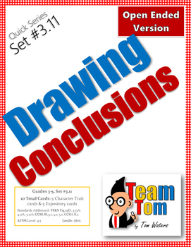 Task Cards: Drawing Conclusions (Open-Ended)