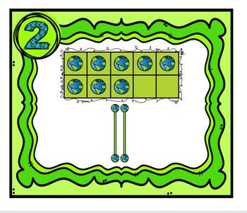Task Cards Earth Day Ten Frames and Tally Mark Addition