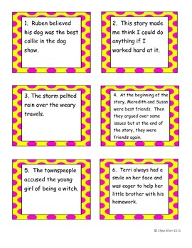 Task Cards:  Elements of the Short Story