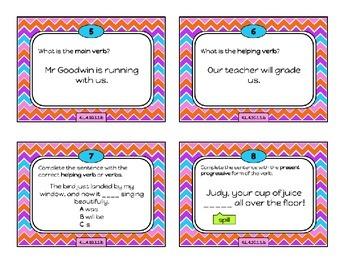 Verb Tenses - Task Cards - Eng Lang Arts 4.L.4.10.1.1.b