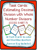 Task Cards: Estimating Decimal Division [Whole Number Divi