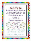Task Cards: Estimating Fraction and Mixed Number Addition