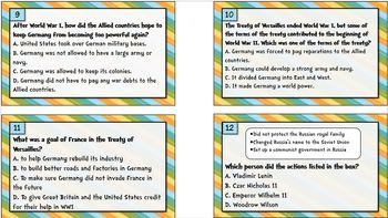 Task Cards -- Europe's History