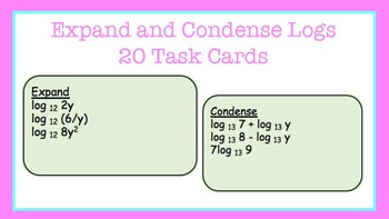 Task Cards: Expand and Condense Logs