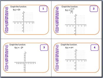 Task Cards - Exponential Expressions and Equations