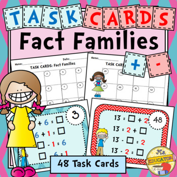 Task Cards: Fact Families