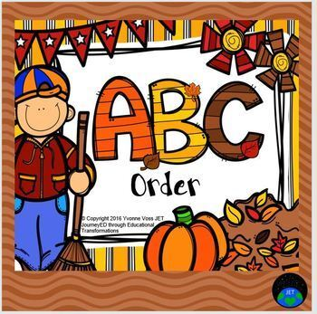Task Cards Fall ABC Order