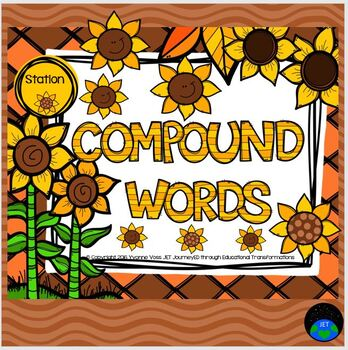 Task Cards Fall/Sunflower Themed Compound Words