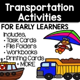 Literacy + Math Centers For Early Learners - Transportation Themed