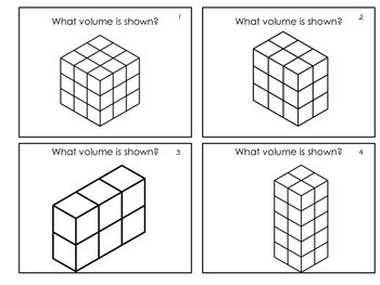 Volume of Solids Made of Unit Cubes