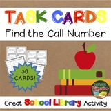 School Library Task Cards – 30 Card Set – Find the Call Nu