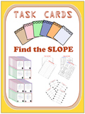 Task Cards - Find the slope (graphs, ordered pairs, equations, tables) 40 Cards
