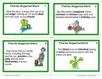 Task Cards--Spelling