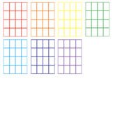 FREE: TASK CARD TEMPLATE (rainbow colours, 16 per page)