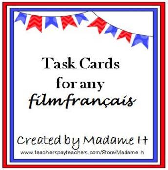 Task Cards For Any Film Français