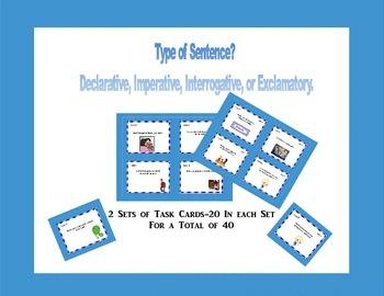 Task Cards Four Kinds of Sentences -Language Review