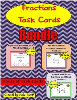 Task Cards - Fractions Bundle