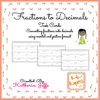 Task Cards - Fractions to Decimals