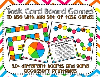 Task Cards Game Boards