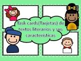 Task Cards Géneros literarios