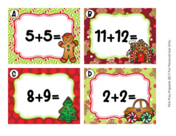 Task Cards Gingerbread Addition Doubles and Doubles Plus One
