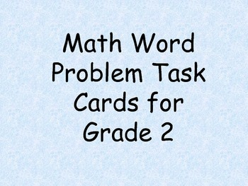 Task Cards Grade 2- Word problems (Math)