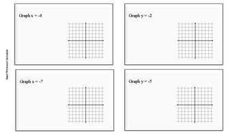 Task Cards: Graph Horizontal and Vertical Lines