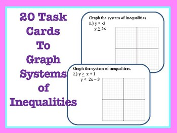 Task Cards: Graph Systems of Inequalities