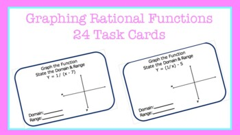 Task Cards: Graphing Rational Functions