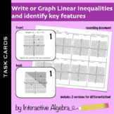 Task Cards: Graphing or Writing Linear Inequalities Activity