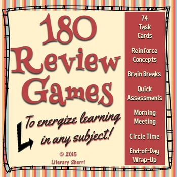 Review Games and Brain Breaks for Middle School (Grades 5, 6, 7, 8)