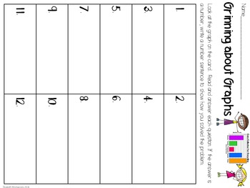 Task Cards: Grinning about Graphs Pictographs and Bar Graphs