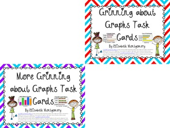 Task Cards: Grinning about Graphs Pictographs and Bar Grap