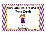 Task Cards -  Hard and Soft C and G (Scoot)