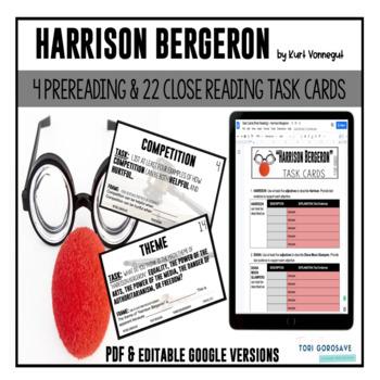 "Task Cards - ""Harrison Bergeron"""